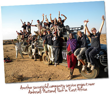 Another successful community service project near Amboseli National Park in East Africa