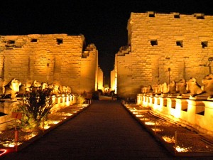 Luxor Temple in Egypt is most spectacular at night