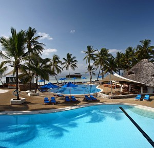 Relax by one of the spectacular pools or dip in the crystal clear Indian Ocean at Watamu beach in Kenya.