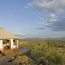 Even when not game driving you are well and truly in the heart of Africa. Ol Seki lodge accommodation has 180 degree panoramic views across Naboisha Conservancy.