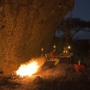 If you don't feel like eating in the lodge one night we can arrange an authentic bush dinner complete with silver service and a toasty camp fire on our flying safaris.