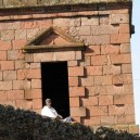 A typical sight around Axum and Lalibella as priests and monks silently watch over us.