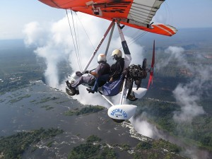 Taking a microlight over the Victoria Falls is exhilarating and exciting but maybe not for those scared of heights!