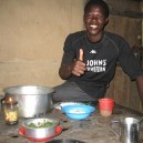 It always puts a huge smile on the face of our hosts who have spent hours cooking a fabulous local African meal for us. John from Mto Wu Mbu in Tanzania is no exception