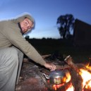 Boiling the billy (or kettle) on a campfire in the desert of Namibia is the perfect excuse for a hot drink as the sun fades and the cool night air sets in
