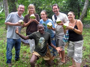 Our spice tours on Zanzibar are not just educational but highly entertaining particularly when Coconut Man is our guide!