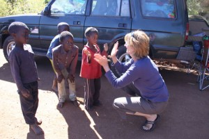 There is always time to play with local kids on our guided self drive expeditions