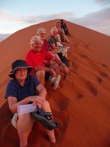 We huffed and puffed our way to the top of Dune 45, Sesrium in Namibia. It was tough but worth it for the amazing views from the top.