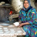 Egypt is famous for traditional cooking methods as shown here a demonstration of making tasty pita bread