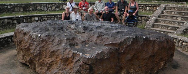 Hoba Meteorite in Namibia is the largest intact meteorite found in the world, weighing a staggering 66 tonnes it fell approximately 80,000 years ago and remained hidden until 1920
