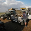 Taking a few minutes to check our lunch cooking on the engine bay – we love to offer a variety of food and cooking methods on our guided 4WD safaris