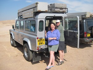 Travel Africa in style in one of our expedition Land Rover Defenders