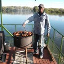 A few sundowners and a scrumptious BBQ dinner on our Zambezi River cruise