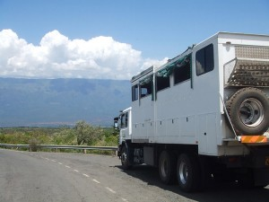 Snowflake is one our of biggest safari trucks, perfect for large group charters for up to 26 people