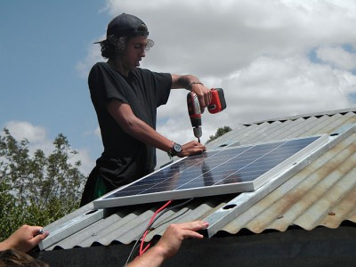 napenda installing solar panels on roof
