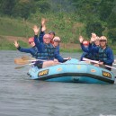 White water rafting on the Nile River in Uganda is a very popular activity on school trips to East Africa