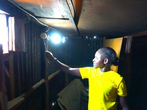 For the first time in her life, Nancy has electricity in her home thanks to Napenda Solar Community