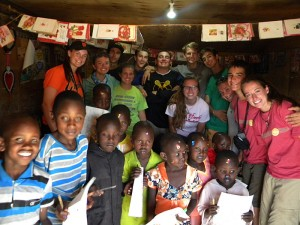 The first house to benefit from Napenda Solar Community when this group of students installed a solar power system
