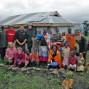 Teacher and staff group from Greenwich Country Day School with another very happy family after installing another solar power system in East Africa