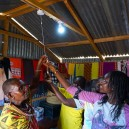 For the first time in their lives this household has electricity thanks to Napenda Solar Community and a volunteer trip to Africa
