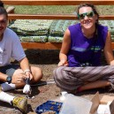 Wiring up the electrics ready to install a solar power system with Napenda Solar Community and Africa Expedition Support