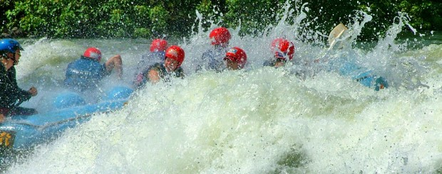 White water raft the Nile River in Uganda on an Africa Expedition Support's African budget overland safaris