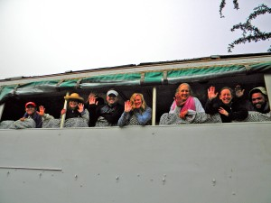 Travelling in the overland safari truck is a fab way to see more and make new friends