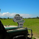 Deciding if we want to eat lunch in the northern or southern hemisphere at Ol Pejeta Conservancy
