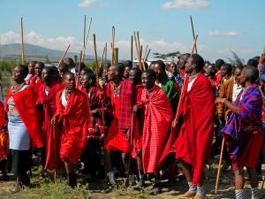 Local Masai wedding ceremony